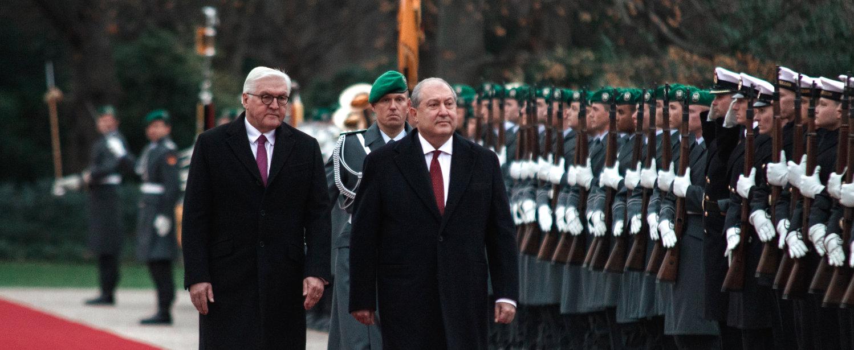 Armenien Präsident Armen Sarkissian Antrittsbesuch Bundespräsident Schloss Bellevue
