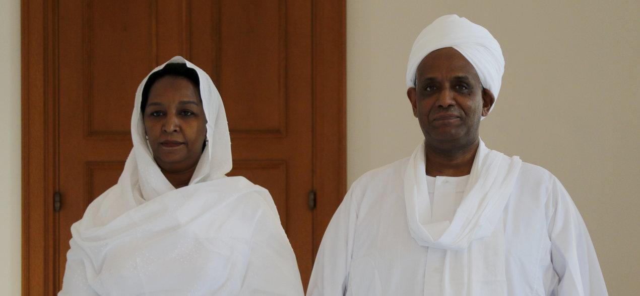 Botschafter der Republik Sudan, Abdelmoniem Osman Mohamed Ahmed Elbeiti, bei Bundespräsident Frank-Walter Steinmeier im Schloss Bellevue akkreditiert