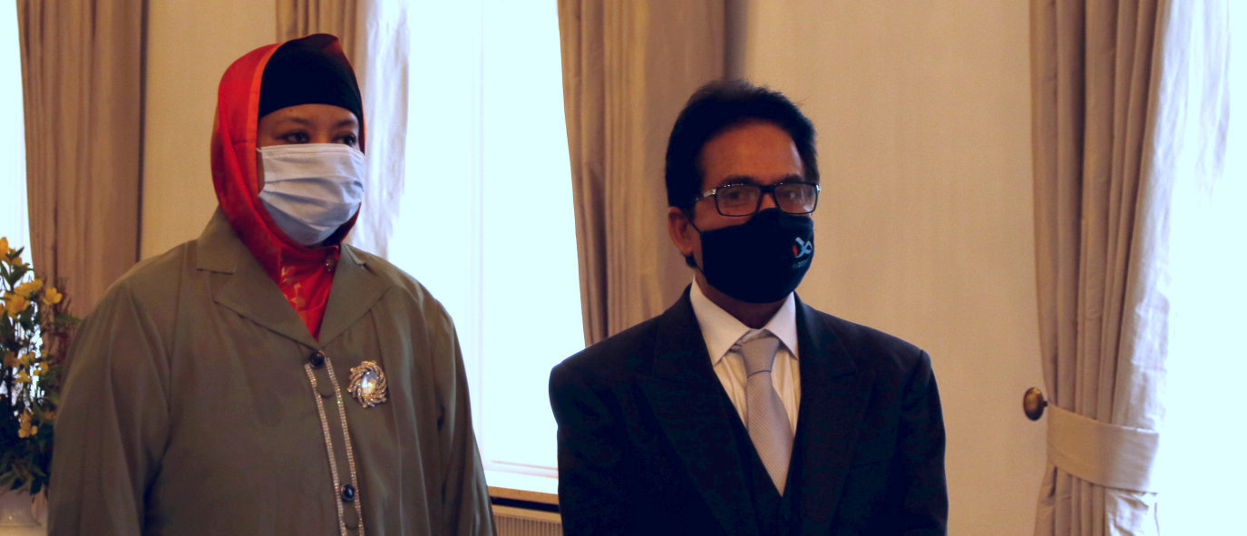 Botschafter der Volksrepublik Bangladesch, Md. Mosharraf Hossain Bhuiyan, bei Bundespräsident Frank-Walter Steinmeier im Schloss Bellevue akkreditiert
