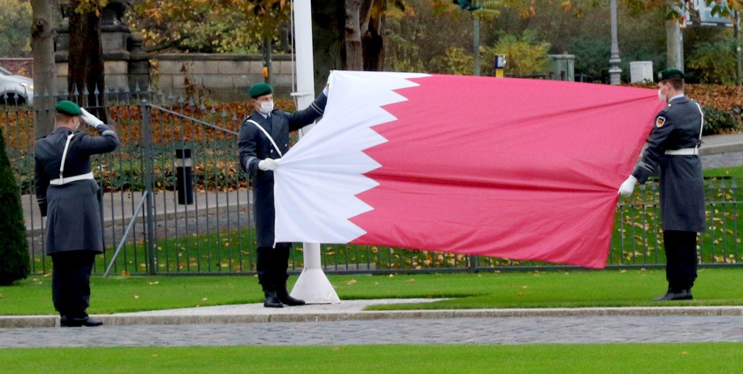 Botschafter des Staates Katar, Abdulla Mohammed S. A. Al Thani, bei Bundespräsident Frank-Walter Steinmeier im Schloss Bellevue akkreditiert