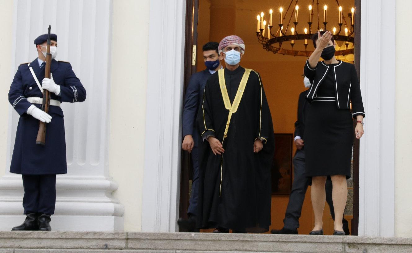 Botschafter des Sultanats Oman, Yousuf Said Mohamed Al Amri, bei Bundespräsident Frank-Walter Steinmeier im Schloss Bellevue akkreditiert