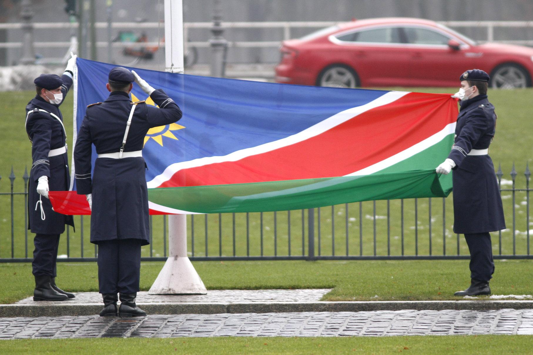 Botschafter der Republik Namibia, Martin Andjaba, bei Bundespräsident Frank-Walter Steinmeier im Schloss Bellevue akkreditiert