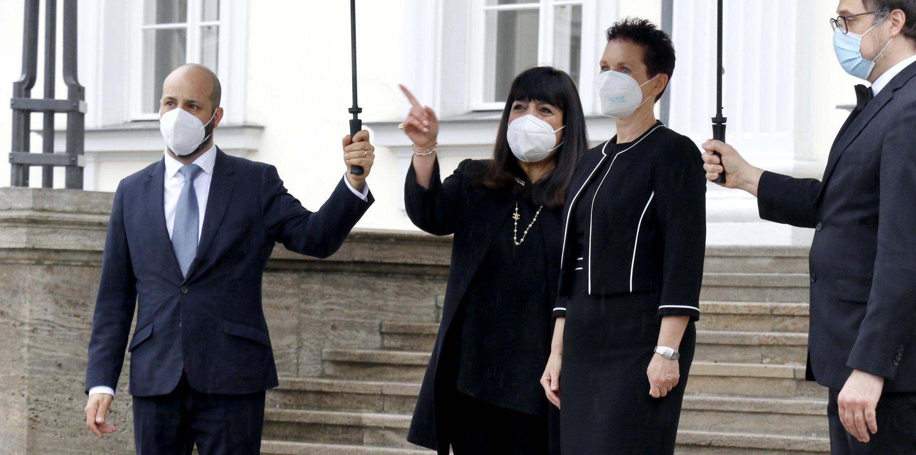 Botschafterin der Hellenischen Republik, Maria Marinaki, bei Bundespräsident Frank-Walter Steinmeier im Schloss Bellevue akkreditiert