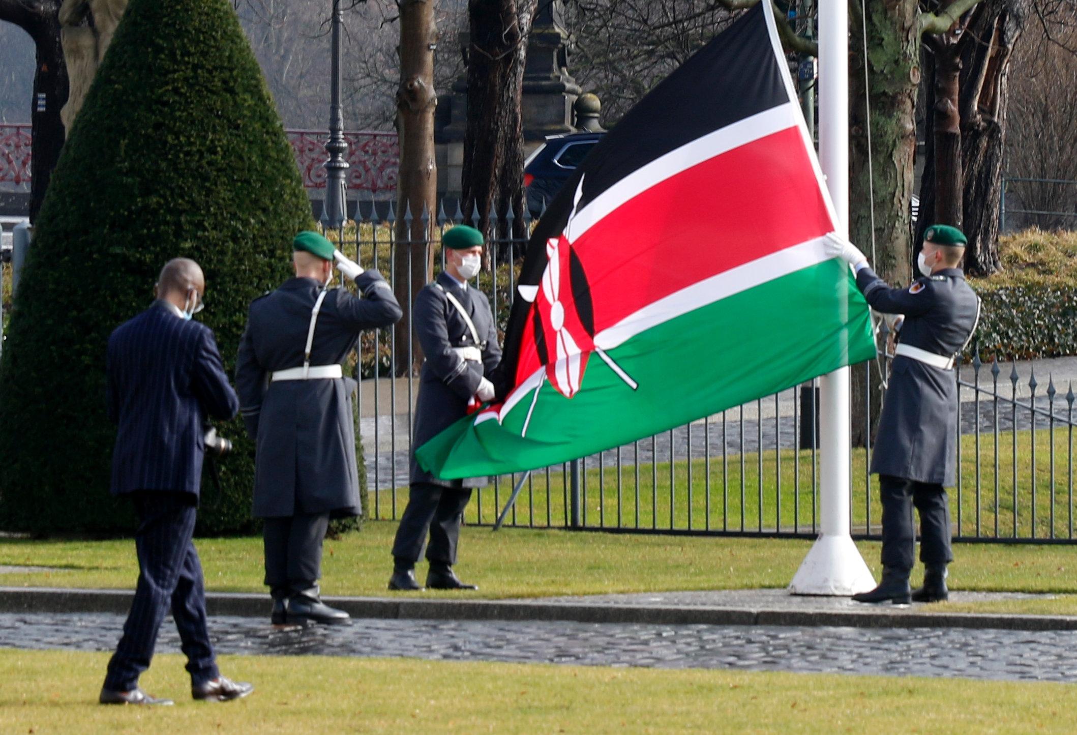 Botschafter der Republik Kenia, Thomas Boniface Amolo, bei Bundespräsident Frank-Walter Steinmeier im Schloss Bellevue akkreditiert