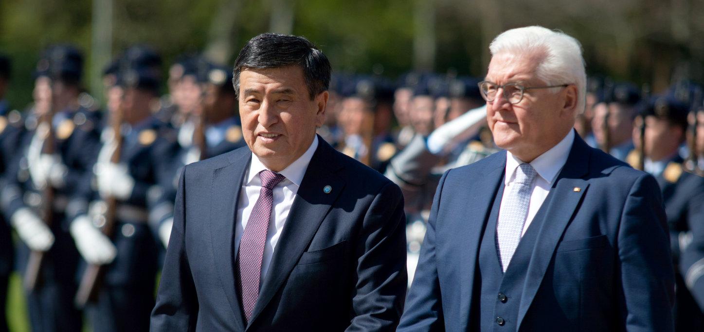 Kirgisistans Präsident Sooronbai Dshejenbekow Schloss Bellevue Bundespräsident