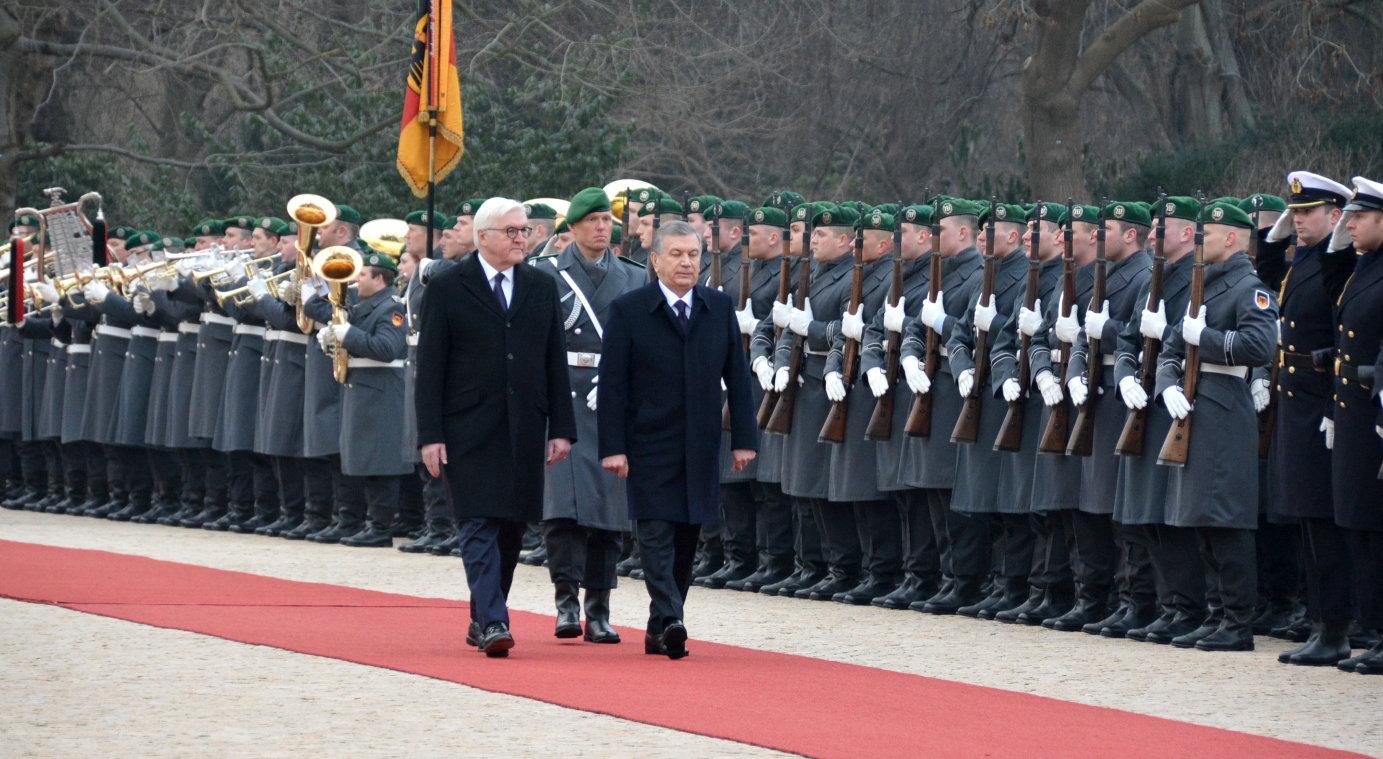 Usbekistan Präsident Shawkat Wirsijojew Bundespräsident Steinmeier Schloss Bellevue