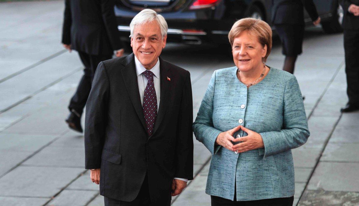 Chiles Präsident Sebastián Piñera in Berlin bei Angela Merkel und Frank-Walter Steinmeier