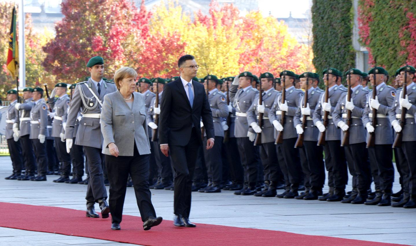 Sloweniens Ministerpräsident Marjan Šarec Berlin Angela Merkel