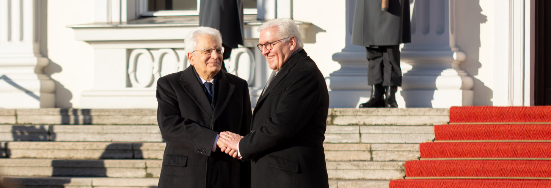 Italiens Präsident Sergio Mattarella Bundespräsident Steinmeier Schloss Bellevue